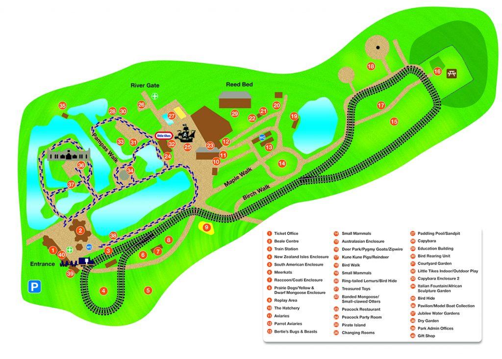 Beale Park map