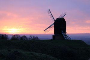 Brill windmill sunset