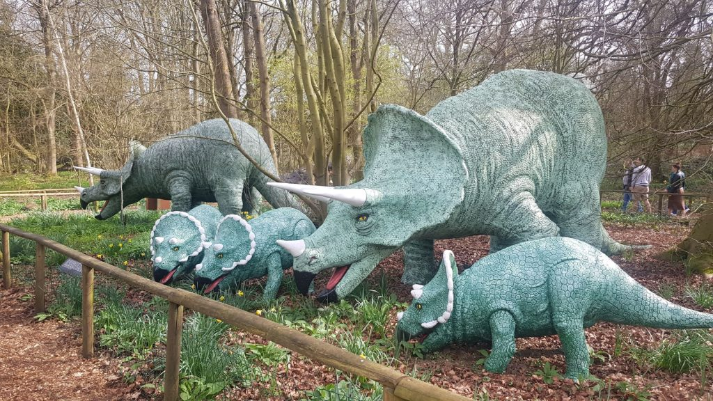 Knebworth house dinosaurs