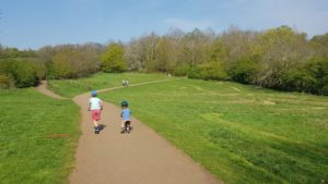 Cycling at Brixworth country park