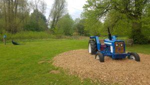 Harcourt Arboretum tractor