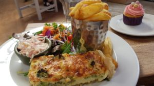 broccoli quiche at the old shed