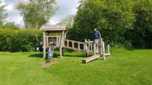 Toddler frame at Charlbury park