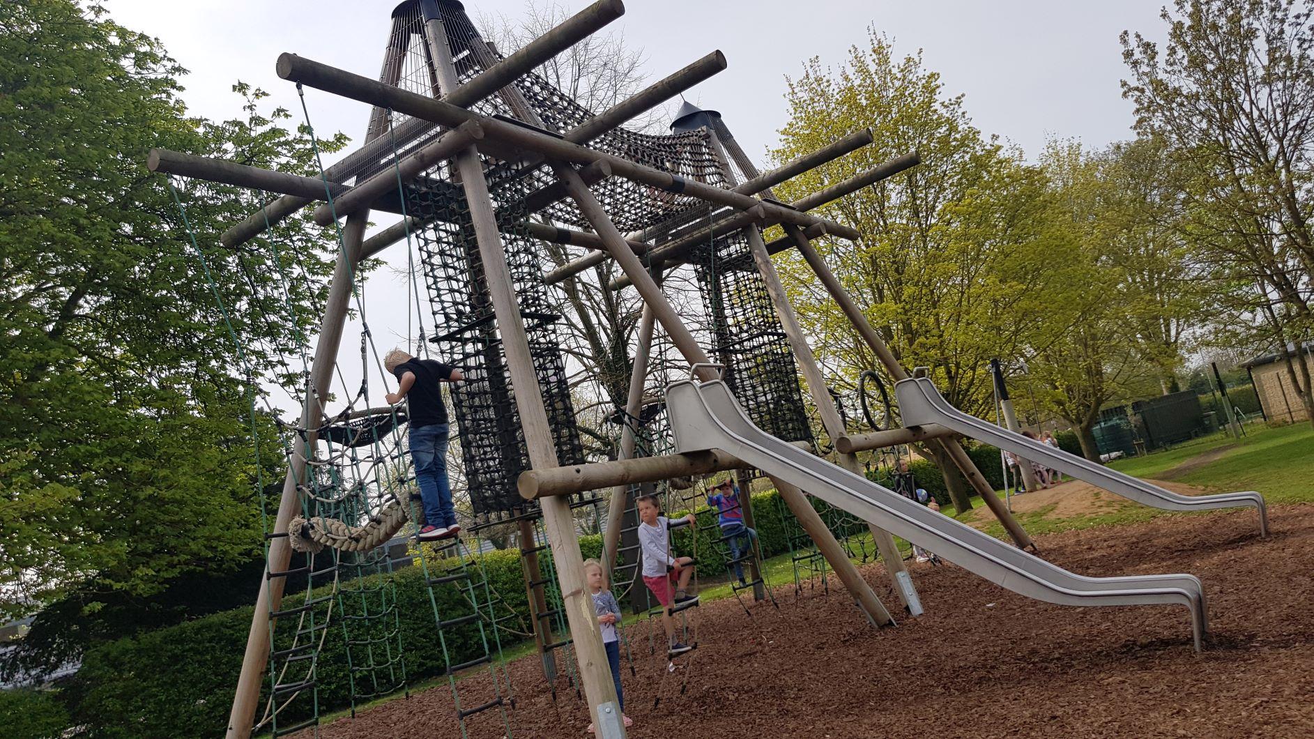 The Leys climbing frame