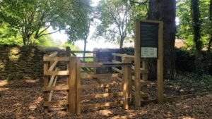 Entrance to swalcliffe play park