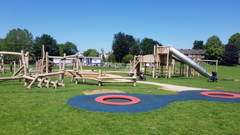 Adventure playground near the splash park and cafe Dunstable