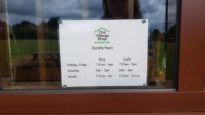 Wigginton village shop and cafe opening times