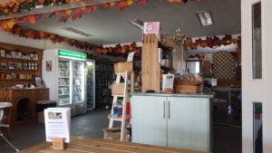 Cafe and shop in farmer gows