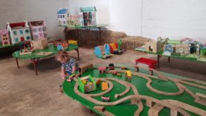 Indoor play at farmer gows