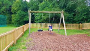 Tire swings at the play park