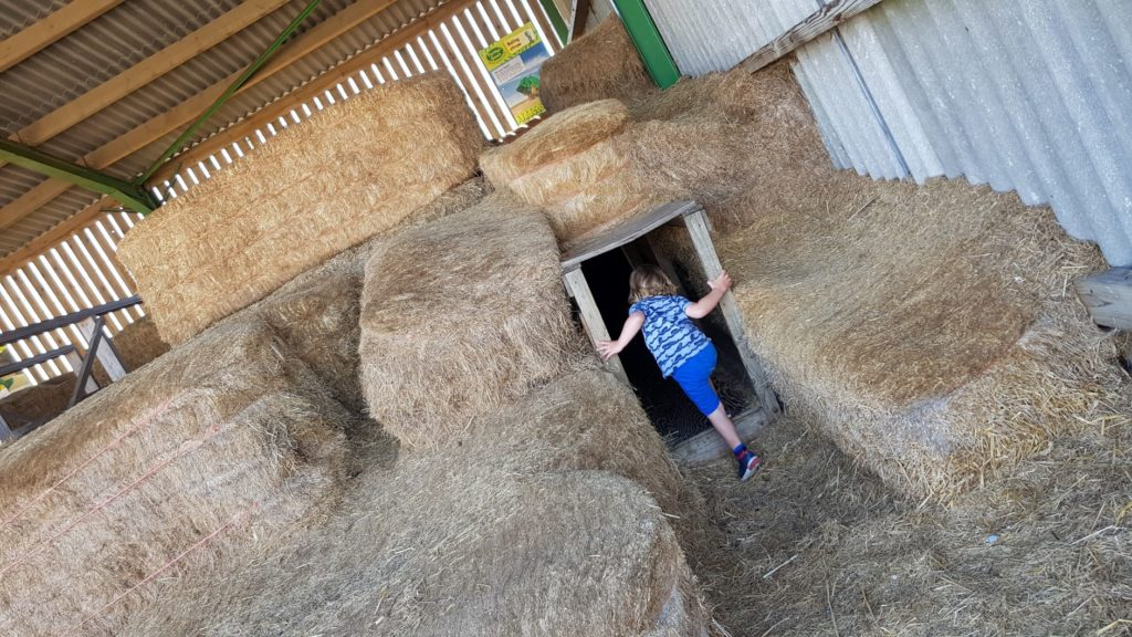 Hay Bale Barn in farmer gow's