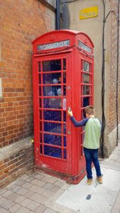 Phone box decoration