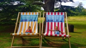 Giant deck chairs