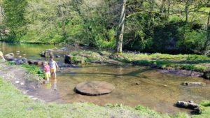 Paddling in the River Dove