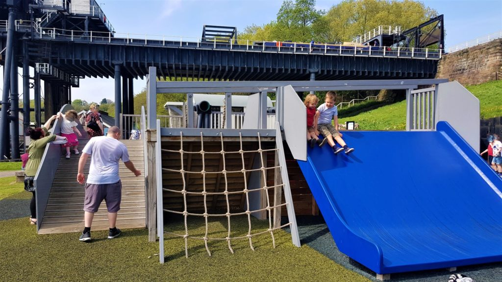 The Anderton boat lift play area