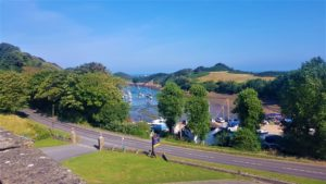 view from watermouth castle