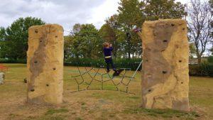 Spiders web cargo climbing wall