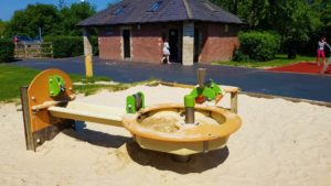 water play at the riverside play park