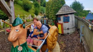 Grandparents on the snail ride