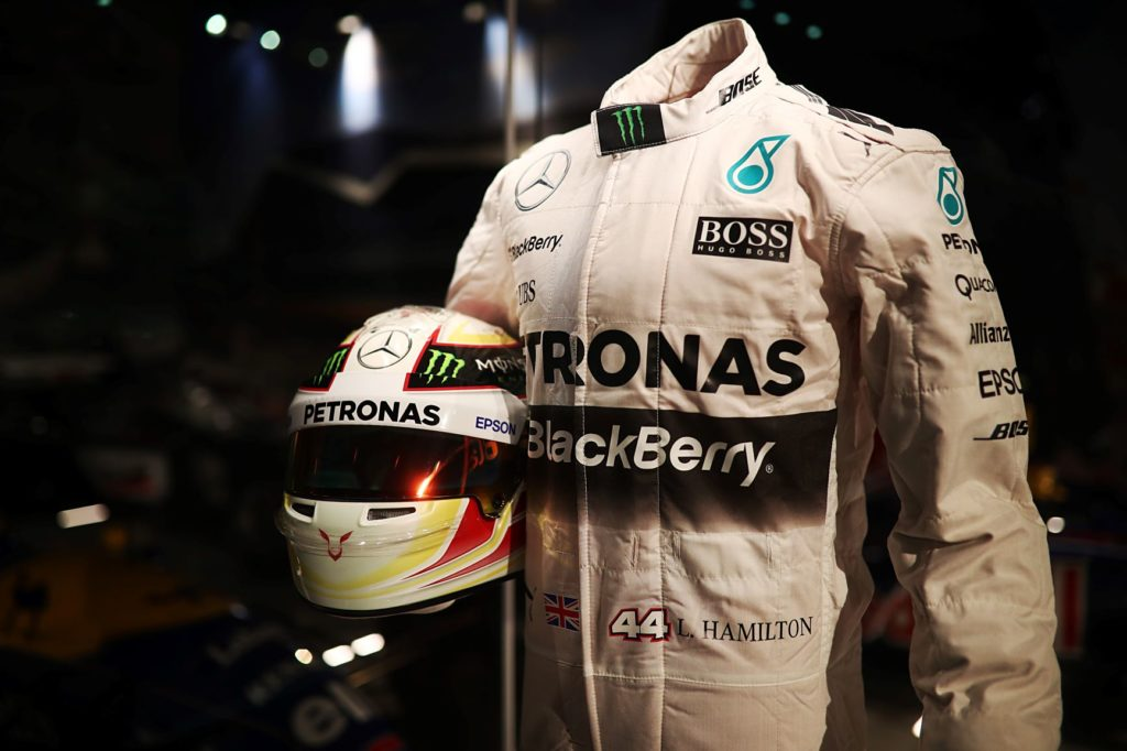 Lewis Hamilton racing gear