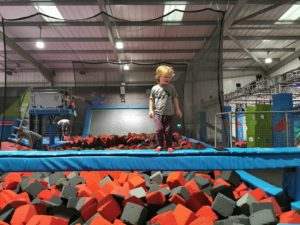 Banlance beam trampoline park