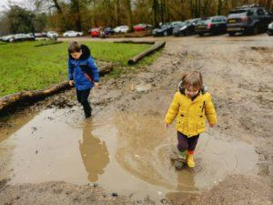 muddy walk at ashridge estate