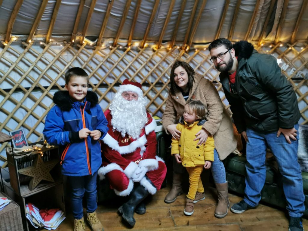 Family Photo with Father Christmas at limes farm