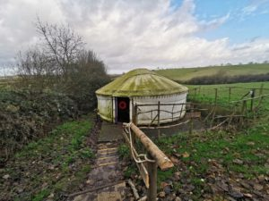 Mrs Christmas's Yurt at Limes Farm