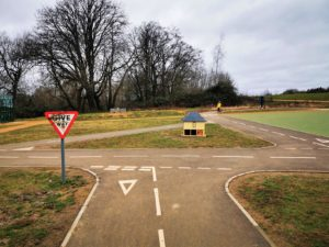 Childrens bike track