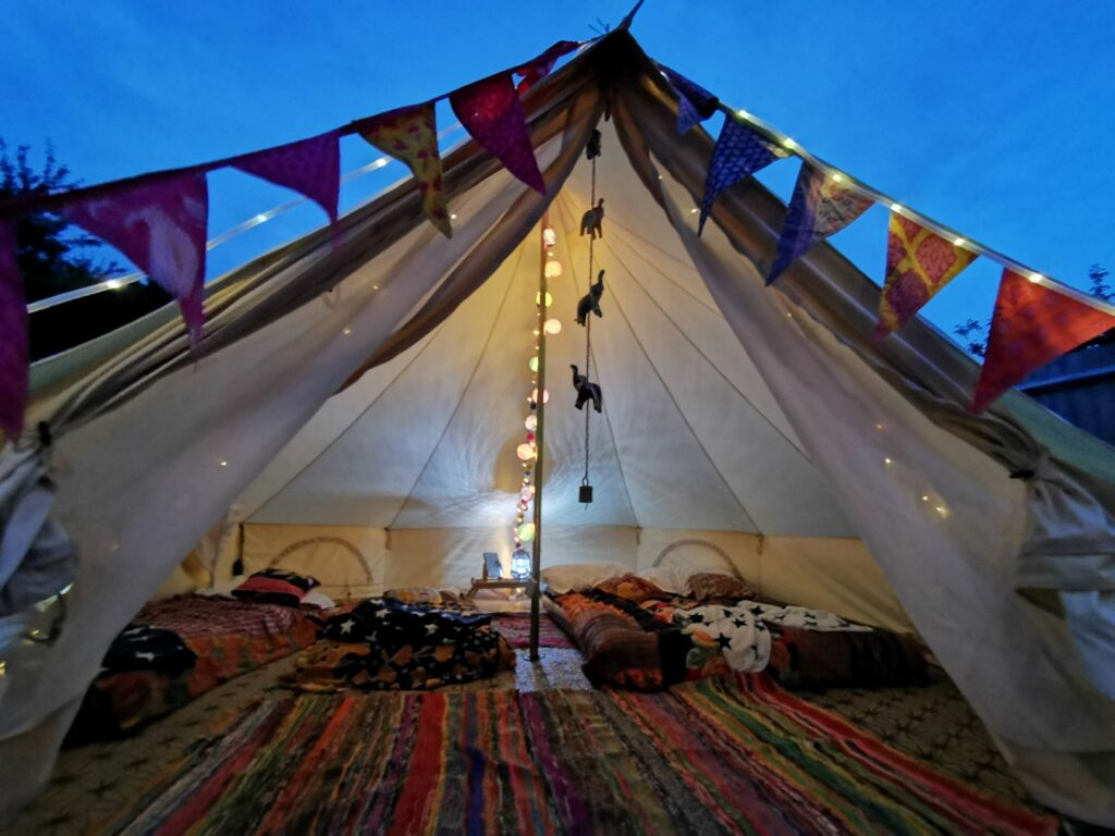 Camping with kids Oxfordshire