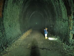 Scary walks with kids Kelmarsh tunnels