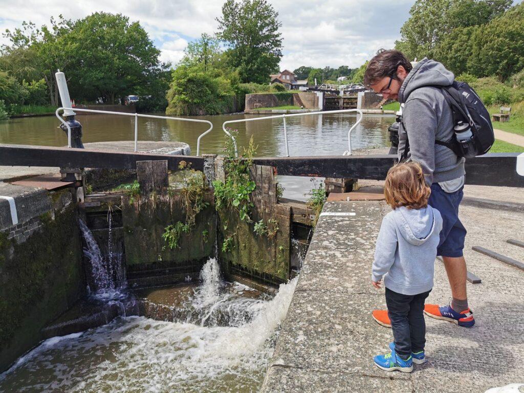 Hatton Locks with kids