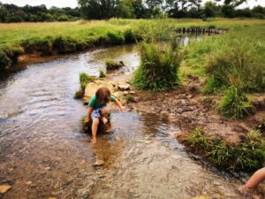 Paddling in the cotswolds