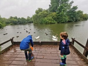 Feeding the ducks in Brackley