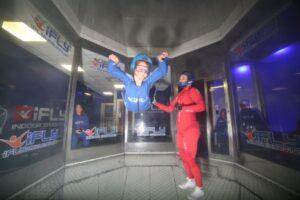 Indoor sky diving